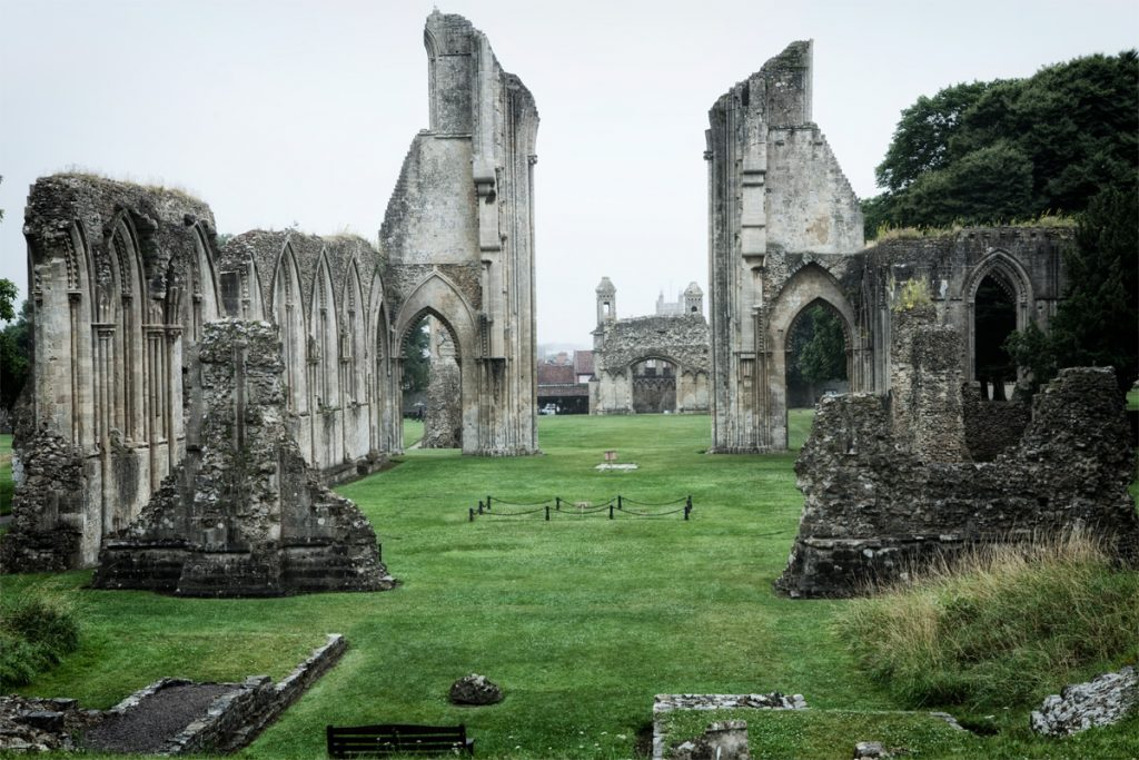 Glastonbury Abbey in England