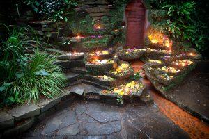 Rote Quelle im Chalice Well Garten, Glastonbury - England