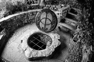 Chalice Well Garden in England, Magischer Brunnen