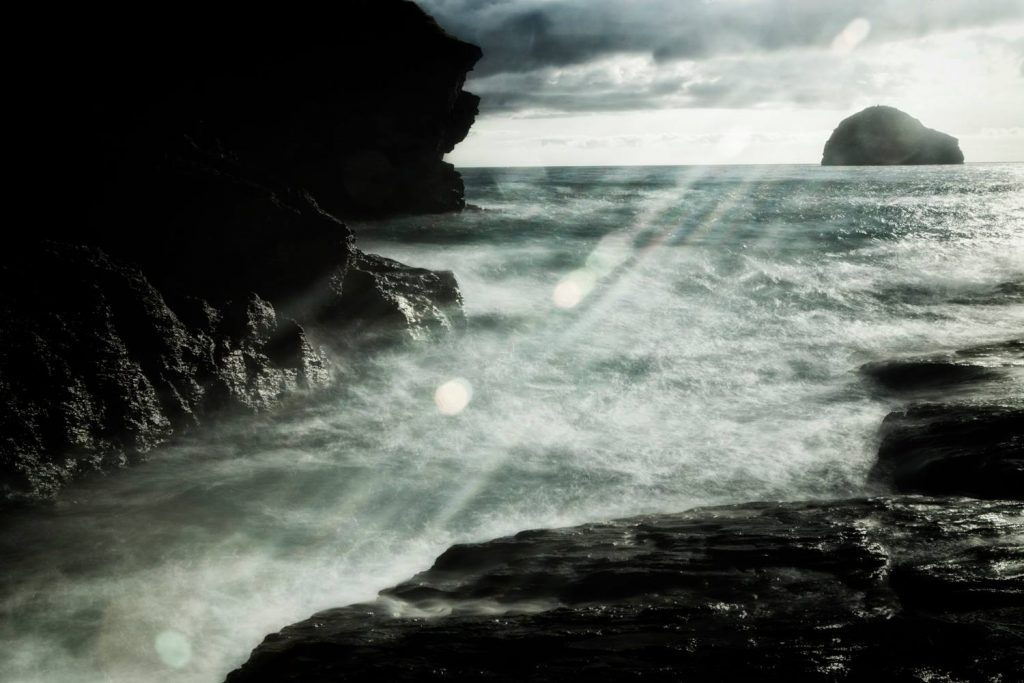 Strandromantik in Cornwall, England