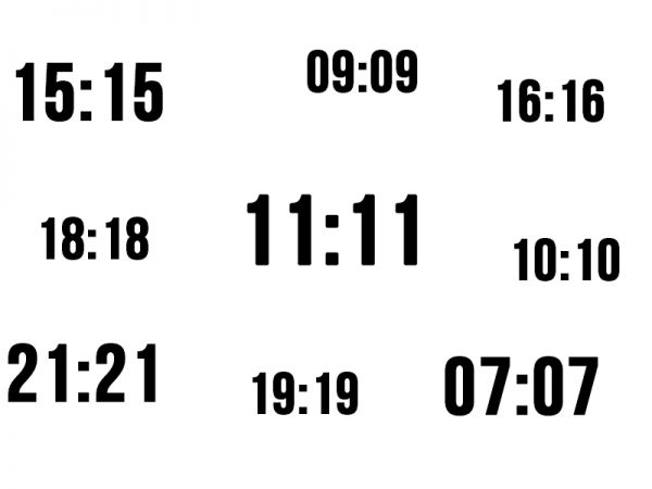 Warum sehe ich immer Zahlen wie 11:11, 17:17 wenn ich auf die Uhr blicke?